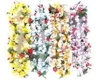 باي شينغ قلادات هاواي لوا ييس زهرة ملونة لل جزيرة الاستوائية شاطئ موضوع الحزب الحدث ، مجموعة من 10