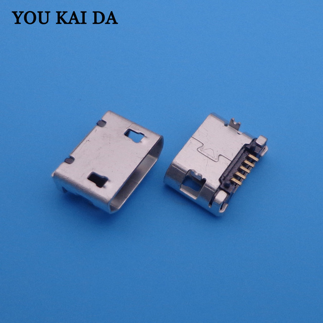 1000pcs/lot Tablet PC Mobile phone charging socket Micro usb jack for Lenovo / ZTE / HTC / Huawei / OPPO / Coolpad /...