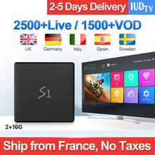 Spain IPTV Android 8.1 Leadcool S1 2+16G RK3229 1 Year Support 2.4GHz WIFI 4K IUDTV Box VS X96 Mini Set Top