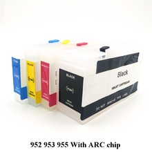 955 Refillable Ink Cartridge With Chip Replacement For HP xl Officejet Pro 8216 8710 8720 8210 8702 8218 8715 8716
