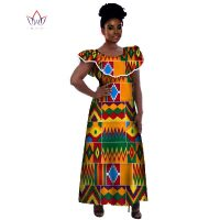 Wholesale 2018 Traditional African Dresses For Women Maxi Size Long Dress Bazin Riche clothes African Dresses for Women WY226