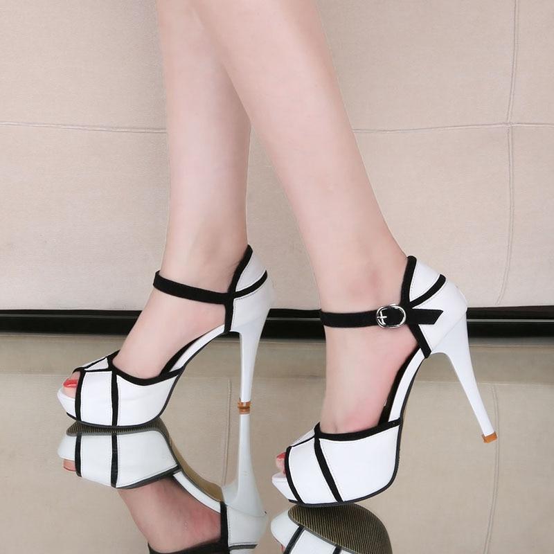 Luxury Shoes Women Summer High Heels Fashion Peep Toe