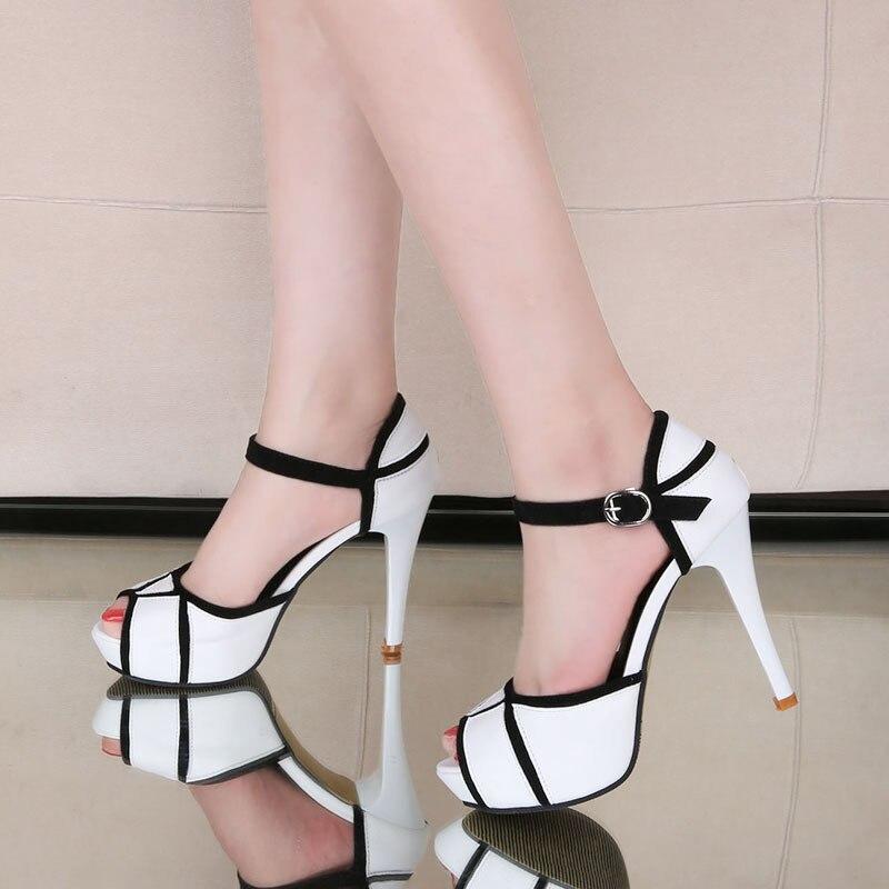 Abierta Tacones Verano Bombas Lujo Peep Moda Plataforma De Sandalias Mujer Toe Fiesta Boda Zapatos Altos Punta VpzqLSMUG