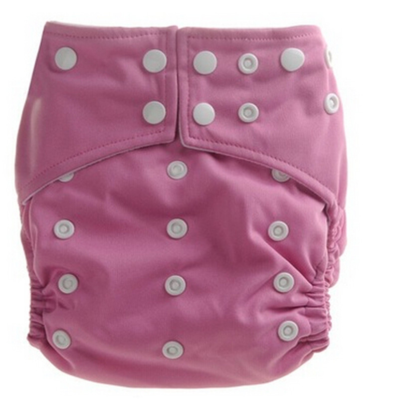 Pink Color Nappy Diaper Solid Color Baby Nappy One Size Adjustable Available Cloth Diapers Cute Lovely Cover Newborn Baby Nappy