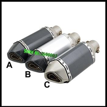 Silenciador de tubo de escape para motocicleta GP, ID Universal, 51mm, mini hexagonal pequeño, con DB killer