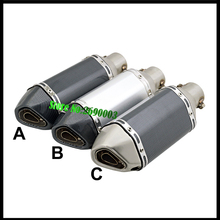 Universal ID 51mm Motorcycle Exhaust Pipe Motorbike Muffler mini small hexagon for SC Motorcycle Exhaust With DB killer