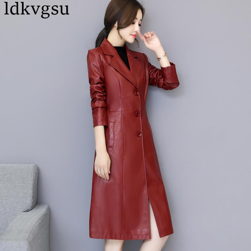Femmes Coupe Black Automne 2019 red Taille De Lâche Wine Nouvelle V425 Cuir Dessus Pour purple Vêtements Mode Coréenne vent Printemps Vestes Pu Grande Slim En red kP8wONn0X