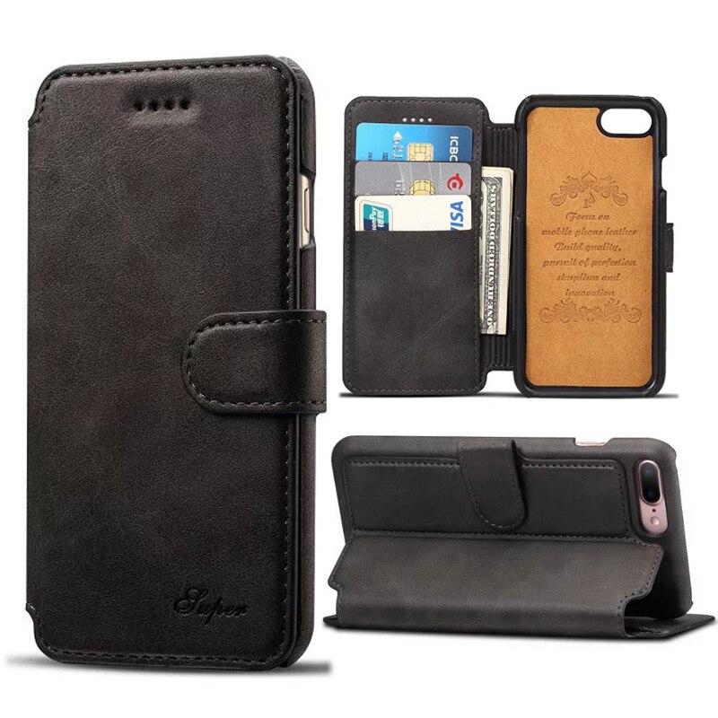 bilder für Für iPhone 7 Fall Leder Brieftasche Flip Abdeckung Vintage Kalb Muster Handytasche Fall für iPhone 7 Plus Taschen Mit Karte halter