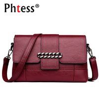 2018 New Female Vintage Leather Shoulder Bags Ladies Clutch Envelope Crossbody Bags For Women Small Designer