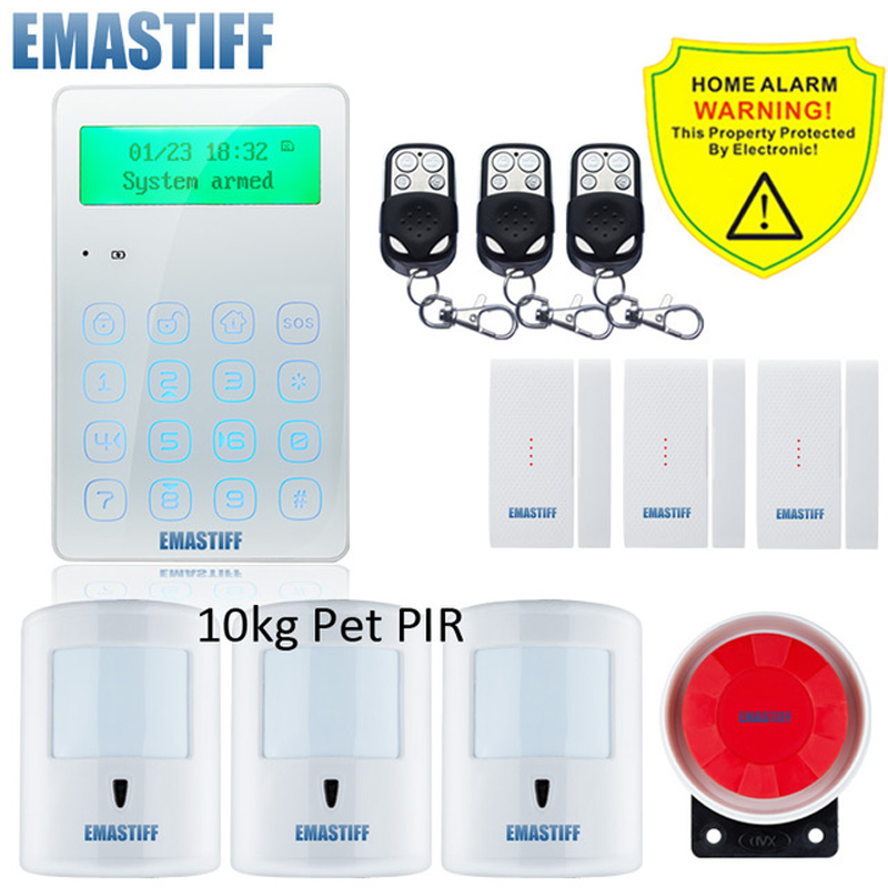 Wireless Home GSM Security Alarm System DIY Kit APP Control With Auto Dial Motion Detector Sensor Burglar Alarm SystemWireless Home GSM Security Alarm System DIY Kit APP Control With Auto Dial Motion Detector Sensor Burglar Alarm System