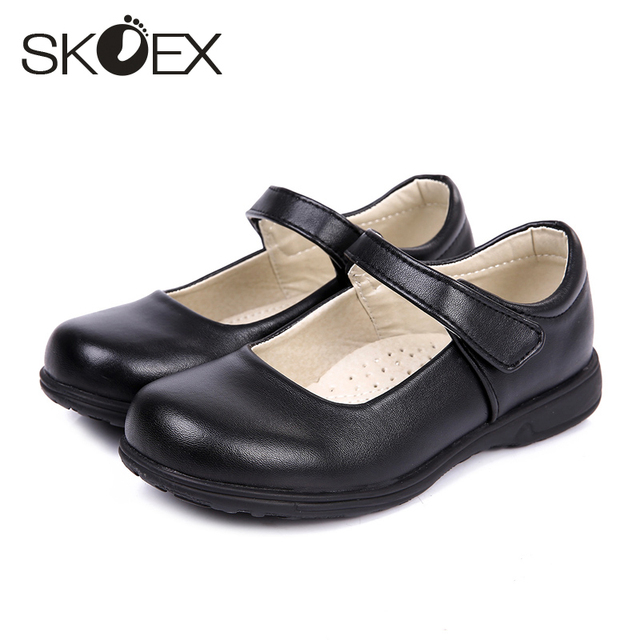 7d334de2adca SKOEX Girl s Mary Jane Shoes Black PU Leather Oxford School Uniform  Princess Dress Childrens Flats(Toddler Little Kid Big Kid)