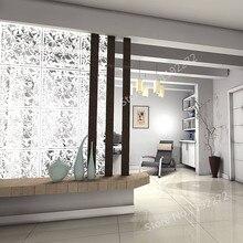 WSHYUFEI 12 шт. белый подвесной разделитель комнаты из экологически чистого ПВХ, перегородки панели экран для украшения, столовой, отеля