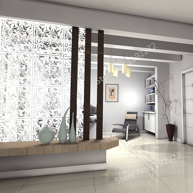 Us 22 8 20 Off Wshyufei 12 Pcs White Hanging Room Divider Made Of Environmentally Pvc Parions Panels Screen For Decorating Dining Hotel In