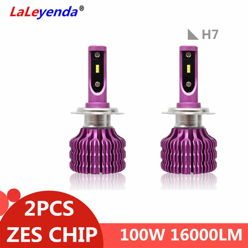 LaLeyenda ZES Chip Car LED H4 High Low Beam Headlight H1 H3 H7 LED H11 9005/HB3 9006/HB4 5202 100W Front Lamp Auto SUV 6000K 12V