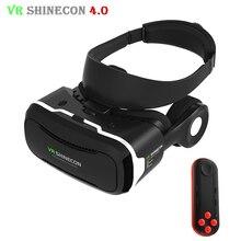 VR Shinecon 4.0แว่นตา3Dเสมือนจริงมาร์ทโฟนชุดหูฟังVRกล่องหมวกกันน็อค+หูฟัง/โครงไมโครโฟนสำหรับ3.5-5.5 'โทรศัพท์มือถือ