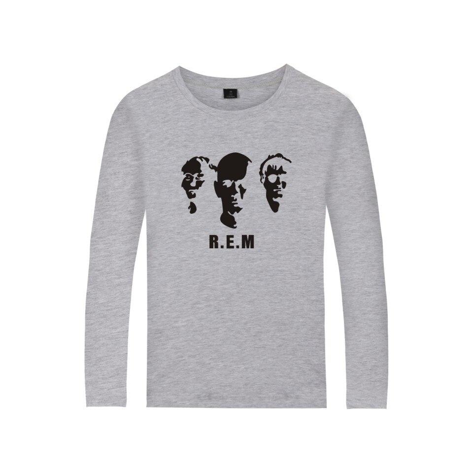 Rock Band R.E.M Shirt Spring Long Sleeve T-shirt Hot Band C.R.E.A.M. Girl Soft Cotton T Shirt Women Rapid Eye Movement Clothes
