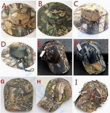 Outdoor sport camouflage fishing hat man hunting CS camping Jungle Maple Leaf cap UV Tactical Climbing