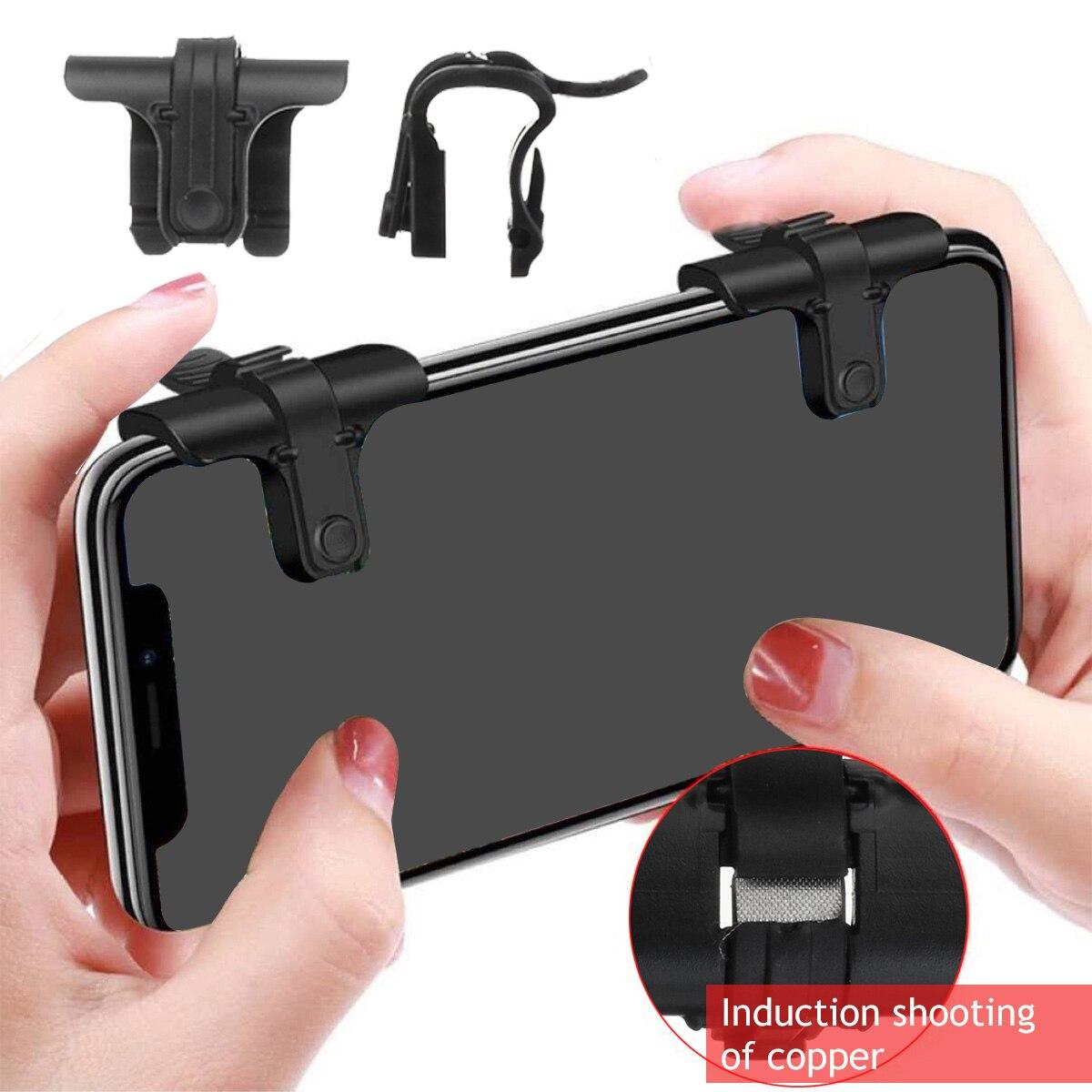 2pcs Mobile Phone Joysticks Gamepad Trigger Game Shooter Aim Key Button L1R1 Shooter Controller For PUBG