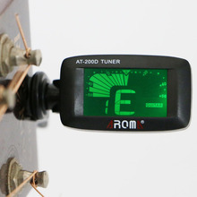 AT-200D Portable Size 360 Degree Rotatable Guitar Clip Tuner Guitar Bass Ukulele Violin Tuner Instrument Accessory free shipping