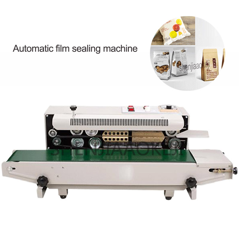 FR-900 máquina automática contínua da selagem do filme da folha de alumínio saco borda aferidor máquina embalagem alimentos 220 v/110 v 850 w 1 pc
