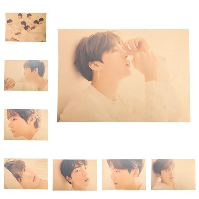 2018 New Vintage Kpop Bangtan Boys BTS Love Yourself Tear Retro Poster
