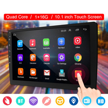 10.1″ 2 DIN Quad Core Car Stereo bluetooth WIFI GPS Nav DAB Touchable Radio Video MP5 Player Car Multimedia Player 1+16G