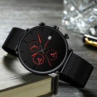 CRRJU Fashion Steel Strap Mens Waterproof Date Clock Mens Casual Quartz Watch Wrist Simple Date Chronograph Relogio Masculino