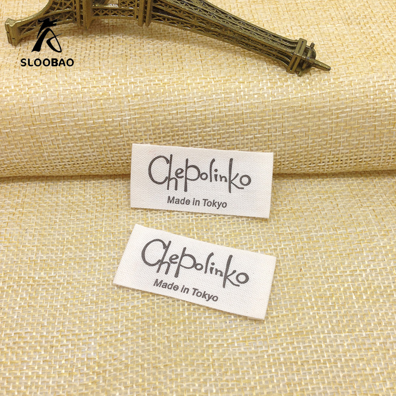 Customized garment labels clothing labels/printed cotton label/Trademark manufacture wov ...