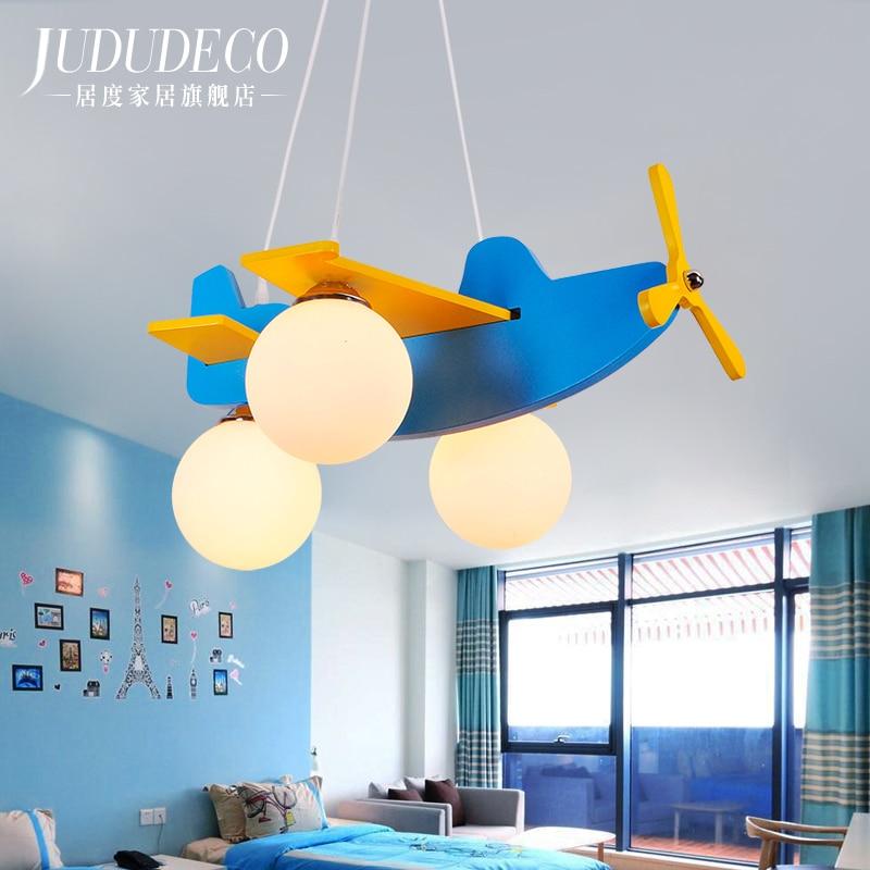 Aircraft Lamp Children House Chandelier Cartoon Boy Girl Toy Helicopter Concise Modern Mediterranean Led Bedroom cartoon boy girl design resin desktop decoration