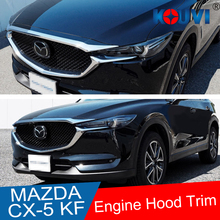 цена на ABS Chrome Front Grille Hood Engine Cover Trim car sticker For Mazda CX-5 CX5 KF SERIRES 2017 2018 accessories