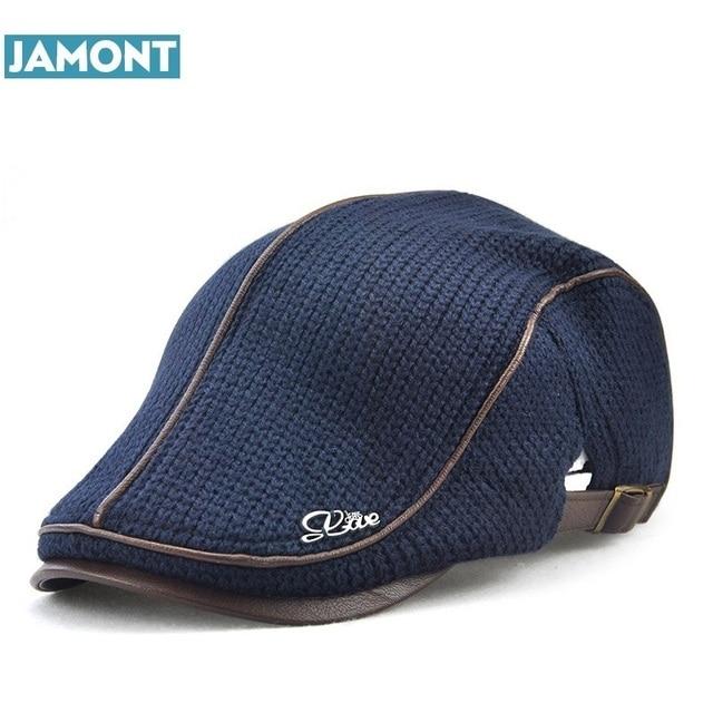 JAMONT de alta calidad de estilo inglés de invierno de lana de los hombres  de edad e3cf8899681