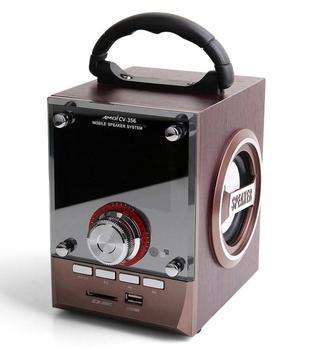 Speaker MS-18BT  CV-18  CV-356 LED Wood Luxury Mobile Multimedia Wireless Bluetooth Portable Speakers USB TF AUX FM Outdoor DJ bov 1005 sl