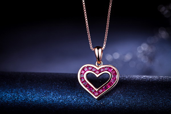 Zocai heart shape 10 ct certified genuine myanmar ruby 18k rose zocai heart shape 10 ct certified genuine myanmar ruby 18k rose gold necklace with 925 sterling silver chain necklace d04315 in necklaces from jewelry mozeypictures Gallery