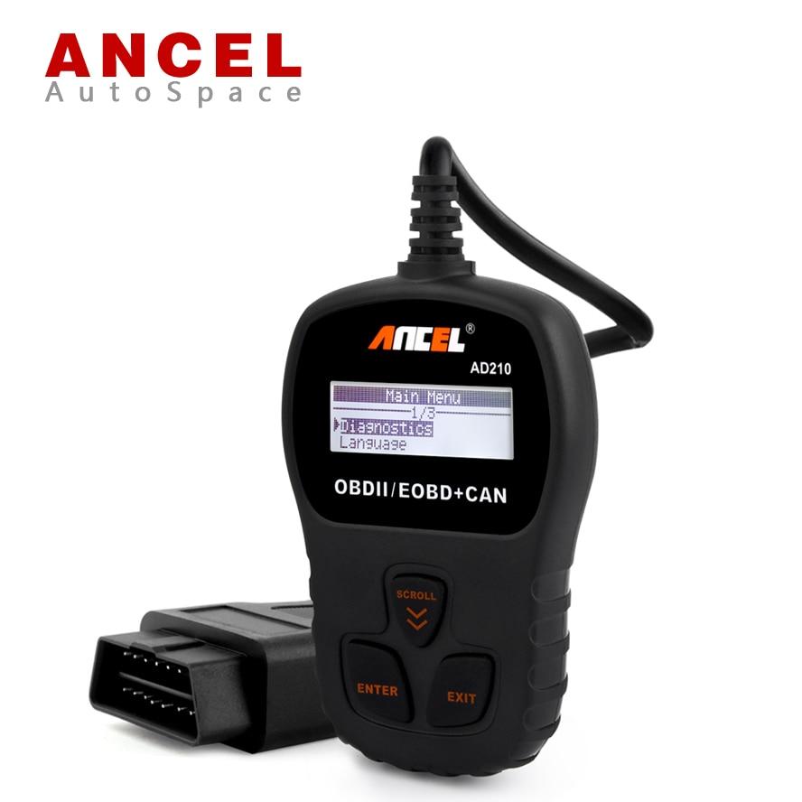 Prix pour Nouvelle Arrivée ANCEL AD210 OBD2 EOBD CAN Code Lecteur Automobile Scanner Diagnsotic-outil OBDII Outil D'analyse Russe Diagnostic OBD 2 II