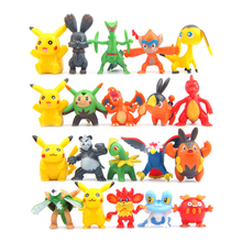 100pcs Mini Kawaii Pikachu Different Styles Fairy Garden Miniatures Figurine DIY Micro Landscape Doll Home Decor Accessories