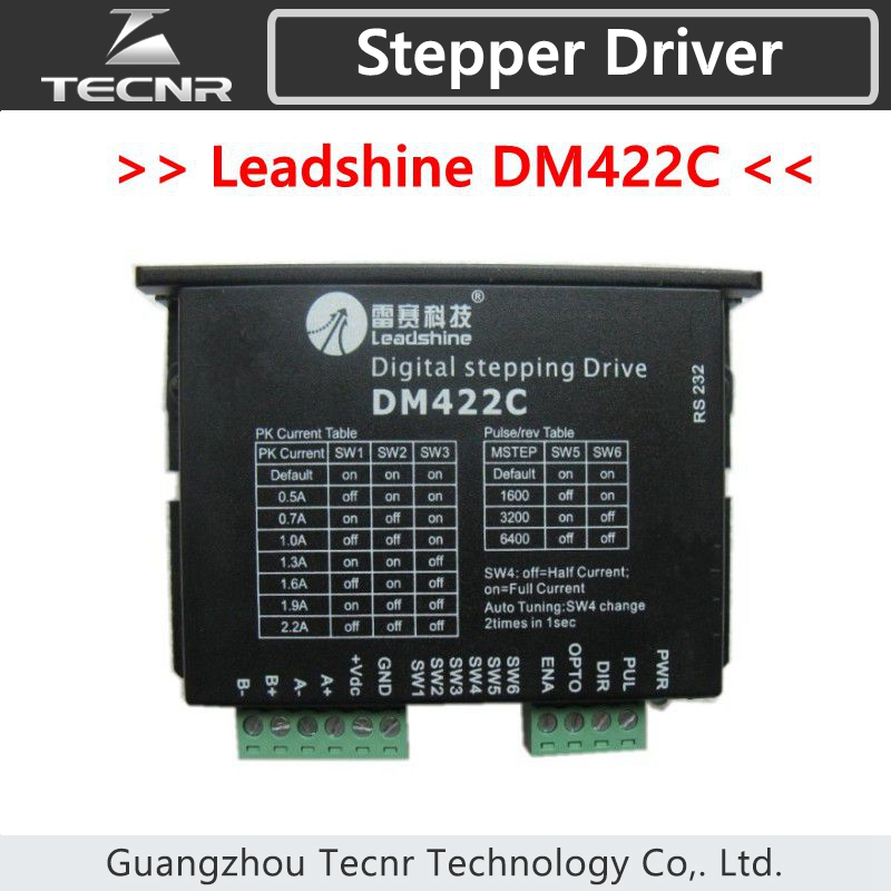 Leadshine stepper driver DM422C  for NEMA14 17 stepper motor  24-40VDC out 2.2A nema24 3nm 425oz in integrated closed loop stepper motor with driver 36vdc jmc ihss60 36 30