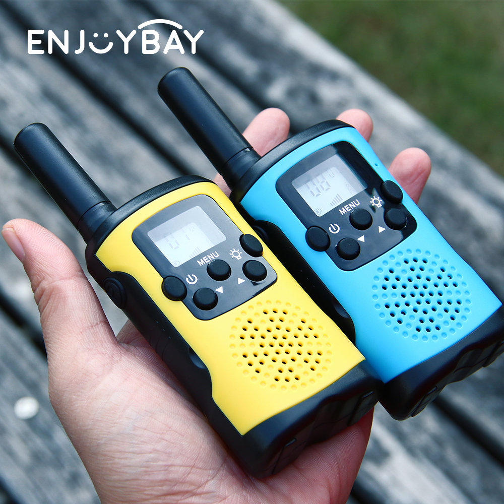 Enjoybay 2pcs Kids Walkie Talkie Toy Outdoor 1000m Two Way Radio Mini Walkie Talkie for Camping Electric Gifts for Children
