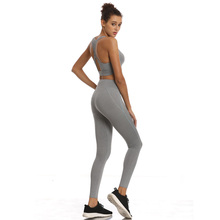 New Yoga Suits Women Gym 2 piece Fitness Set Workout Leggings Top Crops Bra Sportswear Jogging Pant Tracksuit Female Clothing women reflective tracksuit patchwork yoga set woman sleeveless workout fitness gym clothing 2019 sport bra pant suits 2 piece