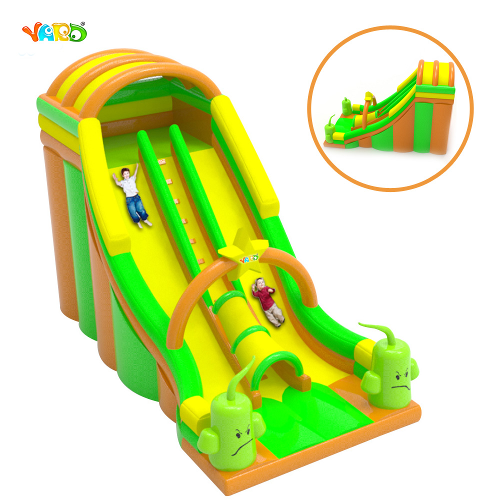 New Item Giant 0.5 mm PVC Inflatable Bouncy Dry Slide Game for Sale funny summer inflatable water games inflatable bounce water slide with stairs and blowers