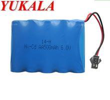 YUKALA 6.0V 500mAh N-CD AA Battery for 629 617 615 RC car RC boat RC tank Free shipping