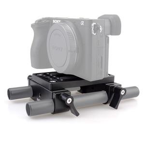 Image 5 - لوحة تركيب بوصلة تثبيت سريعة الإصدار لكاميرا magicrigمع مشبك قضيب 15 مللي متر قاعدة قضيب لدعم قضيب الكاميرا DSLR