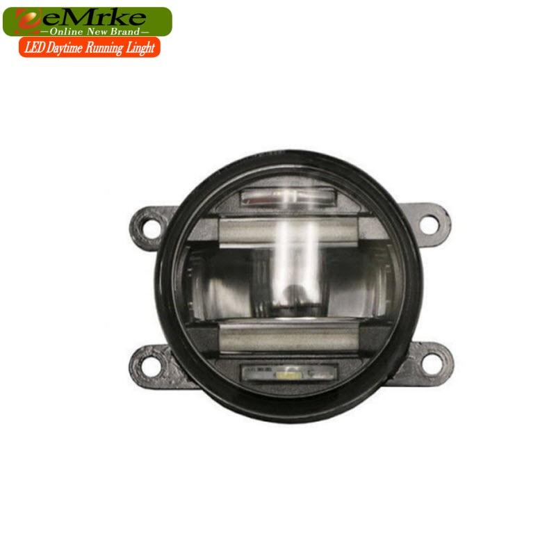 eeMrke Xenon Ağ Yüksək Güclü 2in1 LED DRL Projektor Dumanlı - Avtomobil işıqları - Fotoqrafiya 2
