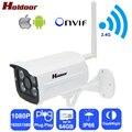 Ipc câmera ip sem fio wi-fi hd 1080 p da webcam câmera de segurança suporte cartão micro sd de memória concha de metal ao ar livre ip66 à prova d' água