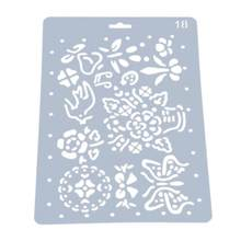 Flower Butterfly Pattern Hollow Template Ruler Plastic Stencils For DIY Scrapbooking Photo Album Drawing Painting Tool Card