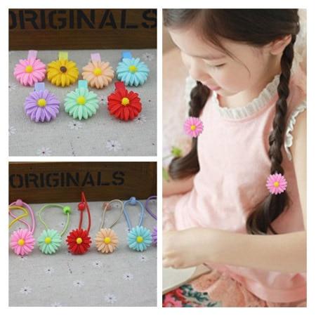 6610 elastic band bracelet summer style hair accessories girl headband clips gum weave baffle braided bow bandana ornaments