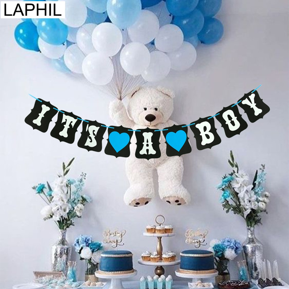 Baby Shower Decorations Bunting Banner Hanging Party Supplies Blue Boy Mum To Be