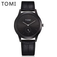 2018 Tomi Luxury Brand Men Fashion Quartz Watches Simple Sport Leather Strap Vintage Style Male Wristwatch