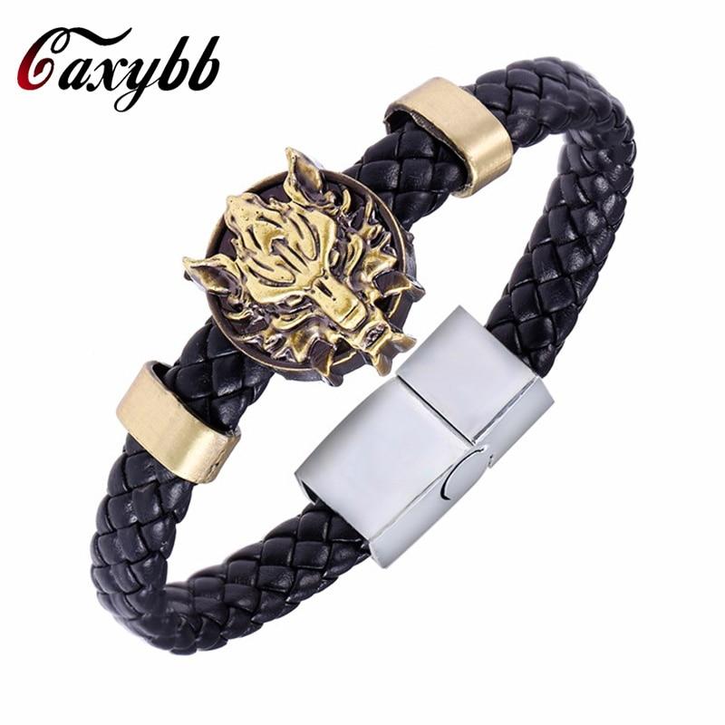 MOSU Hot Animation Final Fantasy Alloy Bracelets Weave leather bracelet Bangle cosplay jewelry
