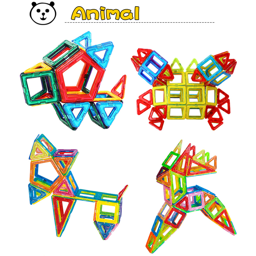 98PCS 168PCS 228PCS Mini Magnetic Designer Set Model Toy Plastic Magnetic Blocks Educational Toys For Kids Gift стоимость
