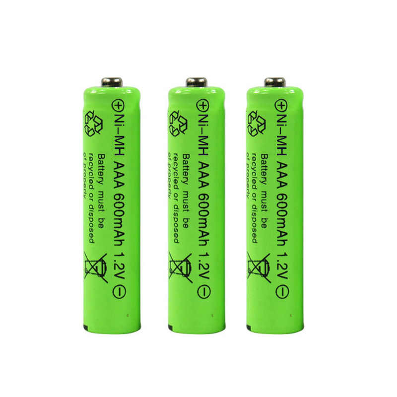 New 1.2v 600mah AAA remote control toy rechargeable NI-MH replacement battery AAA 1.2V 600mAH Batteries